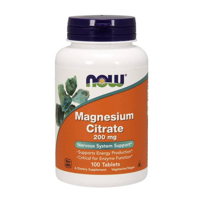 Магний цират NOW Magnesium Citrate 200 mg 100 tabl