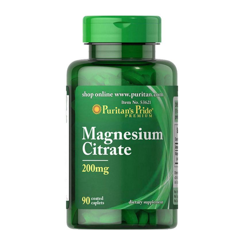 Магній цірат Puritan's Pride Magnesium Citrate 200 mg 90 caplets