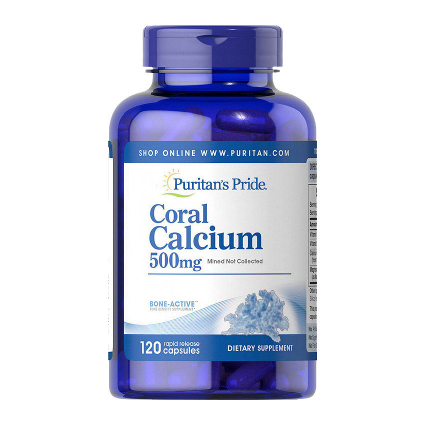 Коралловый кальций Puritan's Pride Coral Calcium 500 mg 120 caps