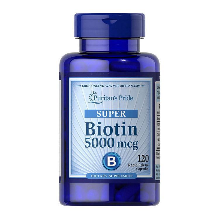 Биотин Puritan's Pride Biotin 5000 mcg 120 caps