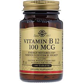 Витамин В12 (цианокобаламин) Solgar Vitamin B 12 100 mcg 100 tabs
