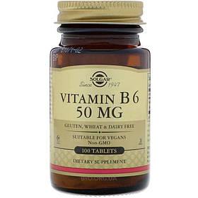 Витамин B6 Solgar Vitamin B 6 50 mg 100 tabs солгар