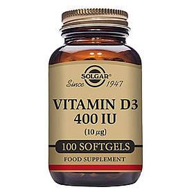 Витамин Д3 (холекальциферол) Solgar Vitamin D3 400 IU 100 softgels солгар