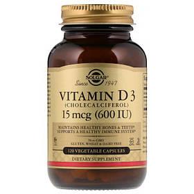 Витамин Д3 Solgar Vitamin D3 600 IU 120 veg caps вітамін д3 солгар