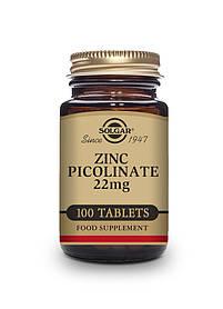 Цинк пиколинат Solgar Zinc Picolinate 22 mg 100 tab Солгар