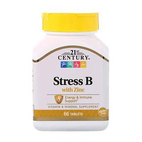 Комплекс витаминов антистресс 21st Century Stress B with Zinc 66 tabs