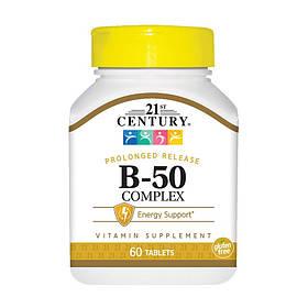Витамины группы B 21st Century B-50 Complex 60 tabs
