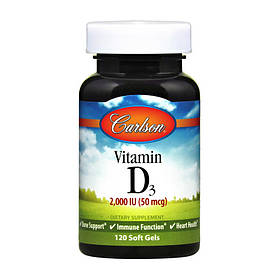 Витамин Д3 Carlson Labs Vitamin D3 2000 IU 120 soft gels