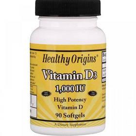 Витамин Д3 Healthy Origins Vitamin D3 1000 IU 90 softgels