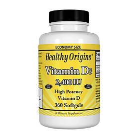 Витамин Д3 Healthy Origins Vitamin D3 2400 IU 360 softgels