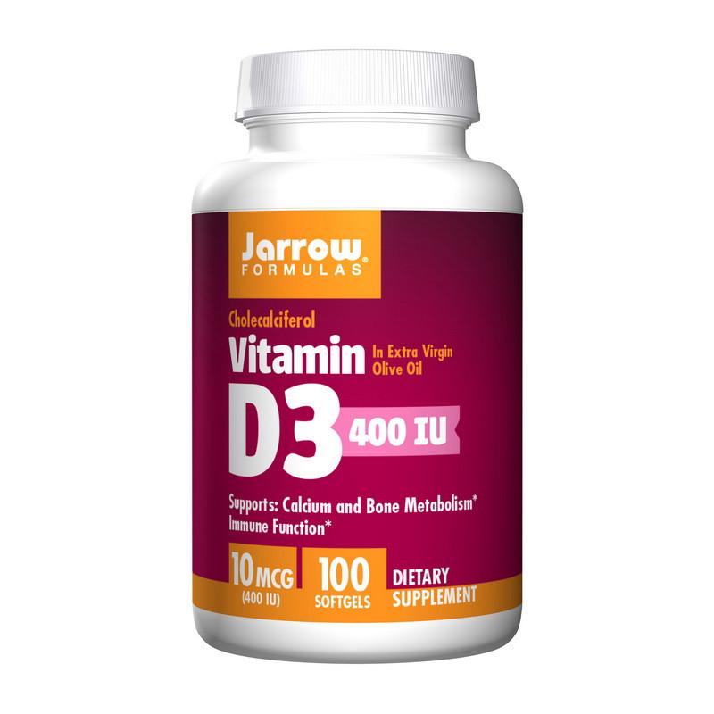 Витамин Д3 Jarrow Formulas Vitamin D3 10 mcg 100 sgels