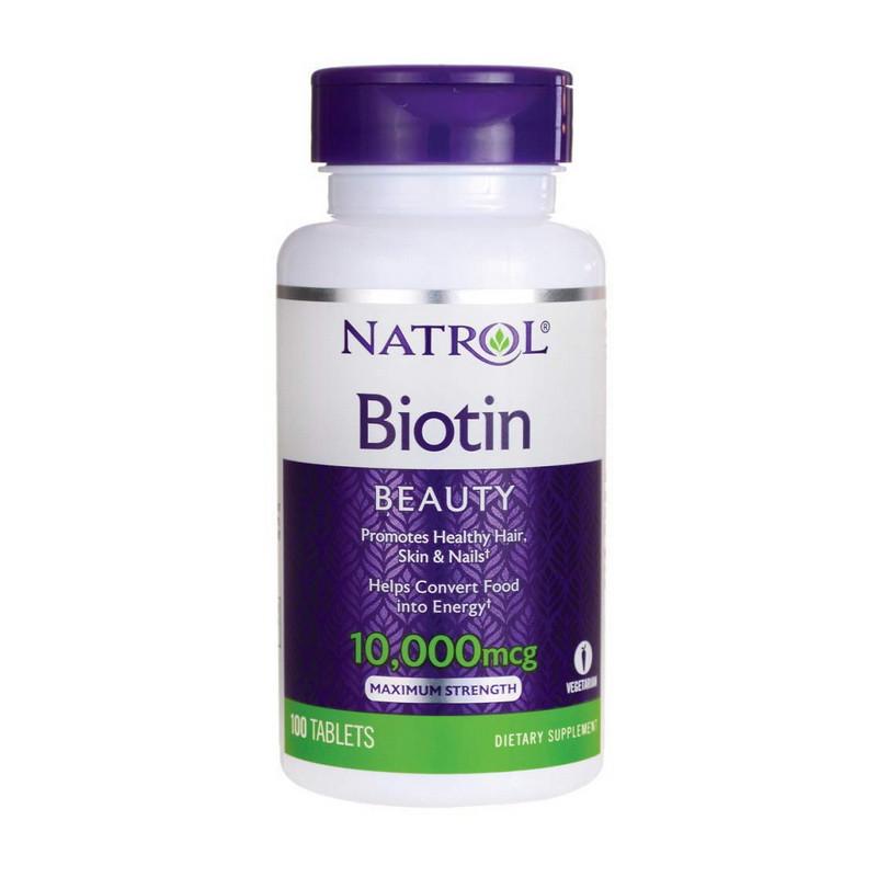 Біотин Natrol Biotin 10,000 mcg 100 tab