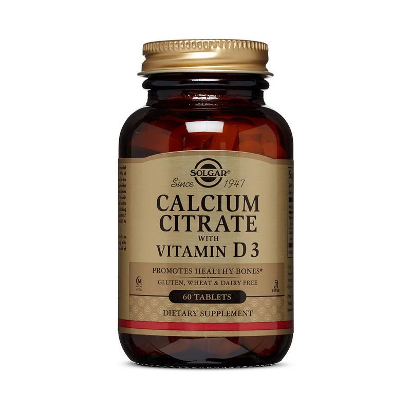 Кальций с витамином Д3 Solgar Calcium Citrate with vit D3 60 tabs