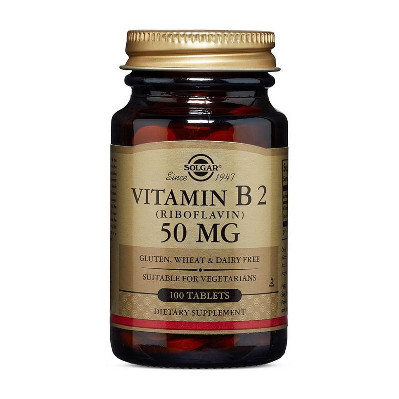 Рибофлавін Solgar Vitamin B2 50 mg 100 tabs