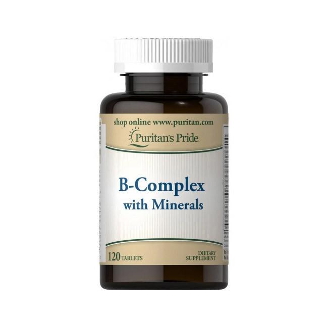 Витамины группы B Puritan's Pride B-Complex with Minerals 120 tabs