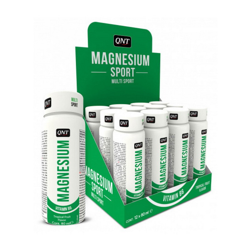 Магний с витамином Б6 QNT Magnesium Sport with B6 12x80 ml