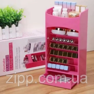 Вертикальний органайзер для косметики Cosmake Lipstick & Nail Polish Organizer