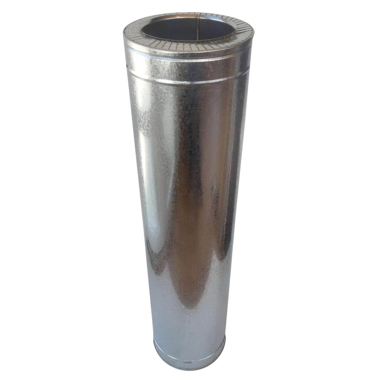 Труба-для димаря сендвіч d 150 мм; 0,5 мм; AISI 304; 1 метр; нержавійка/оцинкування - «Версія-Люкс»