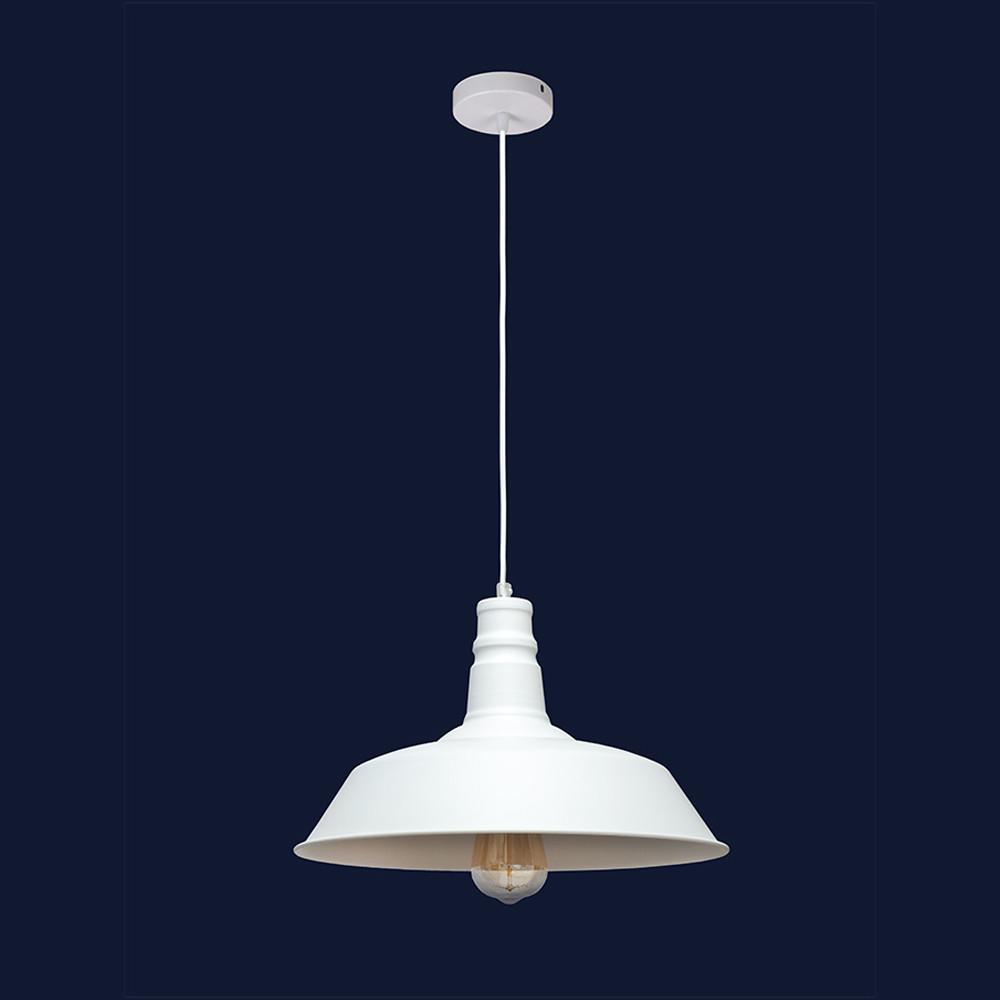 Висячий светильник металлический в стиле лофт цвет белый Levistella&7529520 WH(360мм)