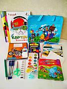 Школьный набор канцтоваров для мальчика Стандарт, 19 предметов