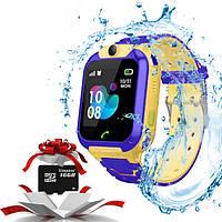 Детские умные  часы  Baby watch TD07S GPS + камера Желтый + карта памяти  16Gb, фото 1