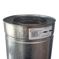 Труба-сэндвич для дымохода d 120 мм; 0,8 мм; AISI 304; 1 метр; нержавейка/оцинковка - «Версия-Люкс», фото 2