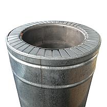 Труба-сэндвич для дымохода d 300 мм; 0,8 мм; AISI 304; 1 метр; нержавейка/оцинковка - «Версия-Люкс», фото 3