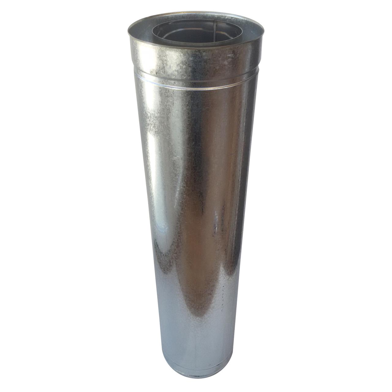 Труба-сэндвич для дымохода d 250 мм; 1 мм; AISI 304; 1 метр; нержавейка/оцинковка - «Версия-Люкс»