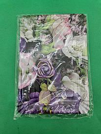 Тарелки праздничные бумажные 15* 22см №11 Цветочная Абстракция 10шт (1 пач)
