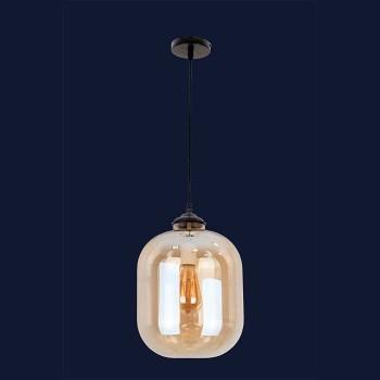 Loft светильник-подвес для зала в классическом стиле цвет черный Levistella&752567-1 AMBER