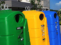 Пластиковые (полиэтиленовые) контейнеры для раздельного сбора мусора KTS