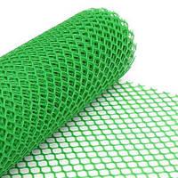 """Сетка пластикова для ограждений """"AgroStar""""50*50 мм(1,5*20 м) ромб, зеленая"""