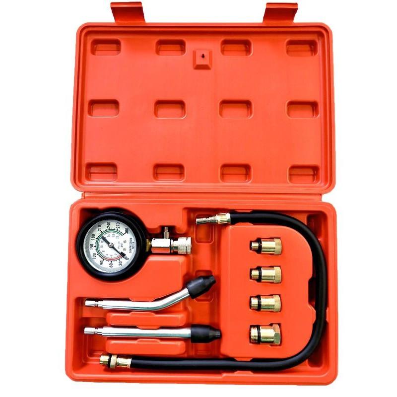 Индикатор компрессии бензинового двигателя Profi 8пр.(0-21Bar, М10, М12, М14, М18 + 2 жестких