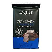 Черный Шоколад Cachet Extra dark 70%, 300 г