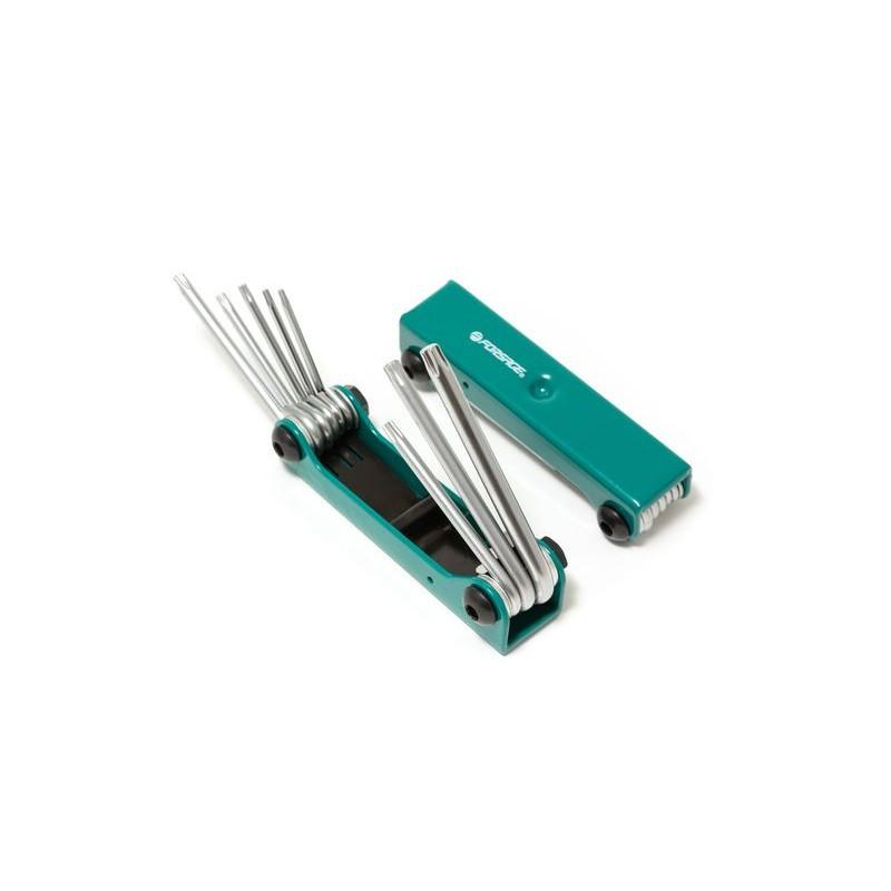 Набор ключей TORX складной, 8 пр.(T9, T10, T15, T20, T25, T27, T30, T40)