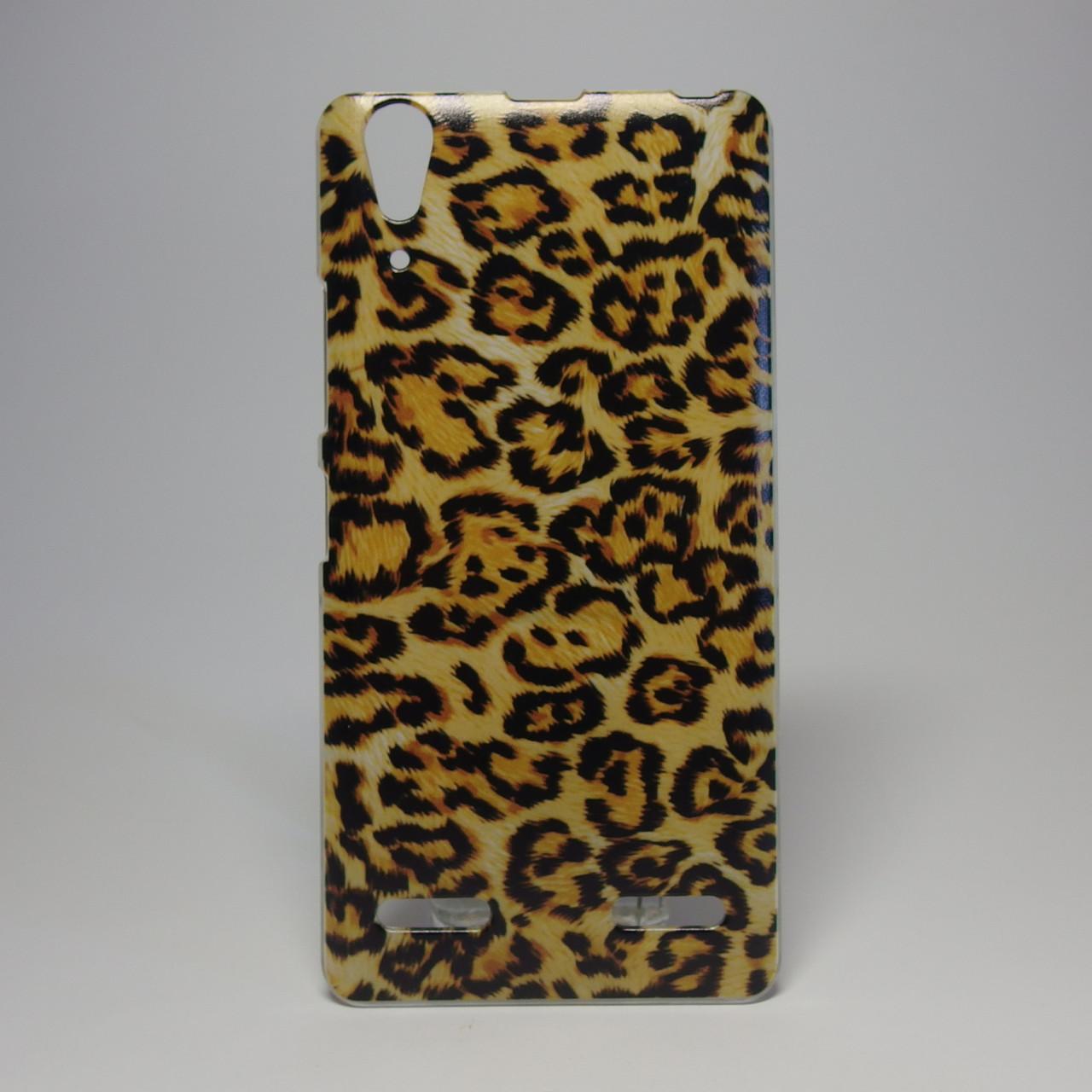 Чохол для lenovo a6000 панель накладка з малюнком леопард