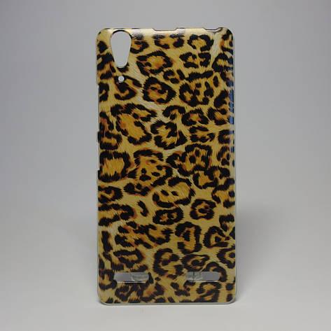 Чохол для lenovo a6000 панель накладка з малюнком леопард, фото 2