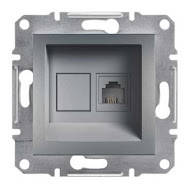 Розетка телефонная, RJ11 Asfora сталь, EPH4100162