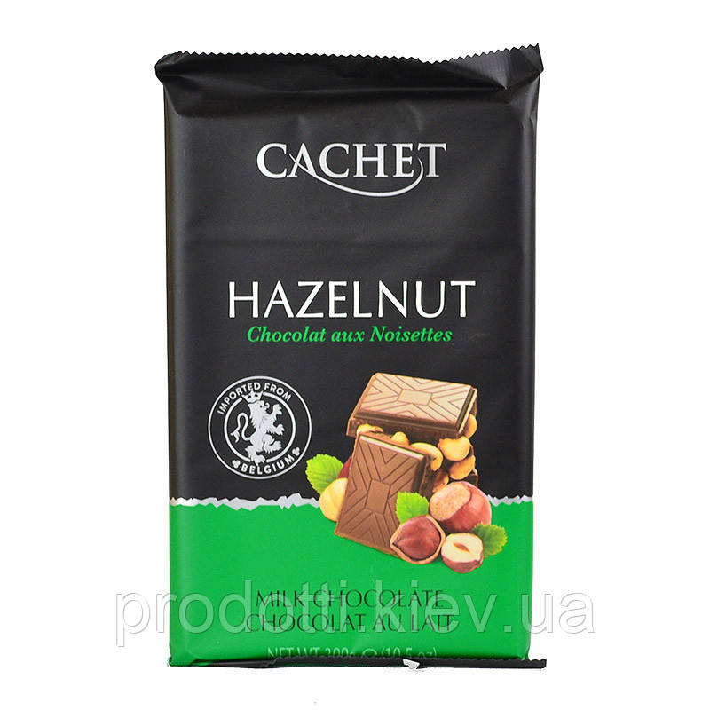 Молочный Шоколад Cachet Hazelnut Milk с фундуком, 300 г