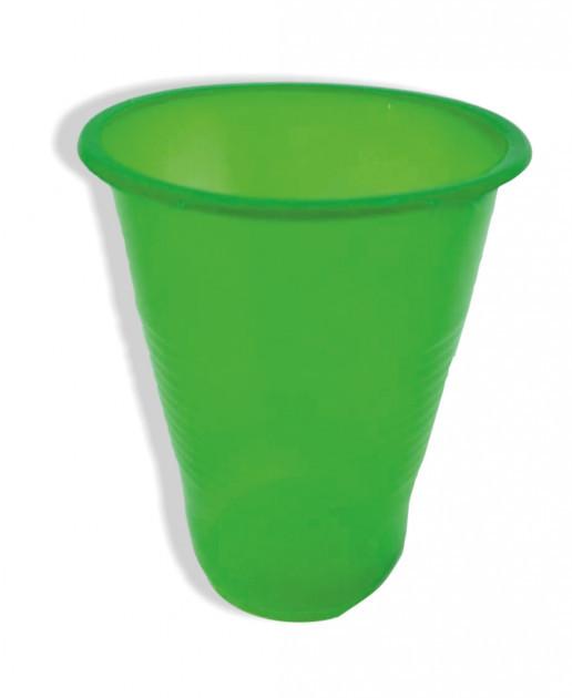Стакан одноразовый пластиковый 180 мл Зеленый 100 шт Атем