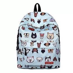 Рюкзак городской подростковый голубой Runningtiger с принтом собачек