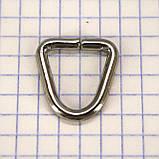 Треугольник проволочный 15 мм никель для сумок t4228 (50 шт.), фото 3
