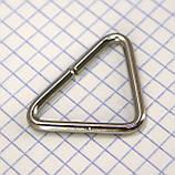 Треугольник проволочный 32 мм никель для сумок t4362 (40 шт.), фото 3