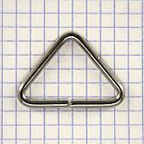 Треугольник проволочный 32 мм никель для сумок t4362 (40 шт.), фото 4