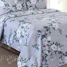 Полуторное постельное белье бязь гост серое прованс ТМ Блакит  хлопок 120 г/м. кв.