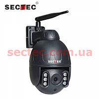 Уличная поворотная камера c 5X ОПТИК ZOOM IP WiFi SECTEC ST-382-2M-5X метал копус