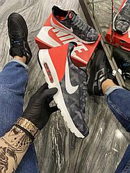 Чоловічі кросівки Nike Air Max Tavas Camo Grey Orange (хакі/сірий/червоний)