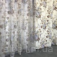 Штори тюль в вітальню кімнату квартиру, штори в стилі прованс для залу спальні кімнати, готові штори для залу спальні вітальні, фото 3