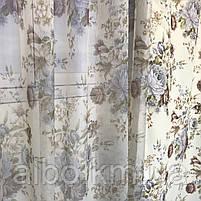 Штори тюль в вітальню кімнату квартиру, штори в стилі прованс для залу спальні кімнати, готові штори для залу спальні вітальні, фото 5