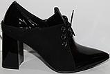 Туфли кожаные женские на каблуке от производителя модель КЛ2043-3, фото 3